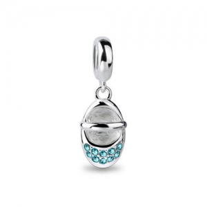 Sterling Silber Baby Schuh Charm